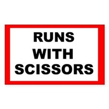 Runs With Scissors - Rectangle Decal