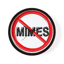 No Mimes - Wall Clock