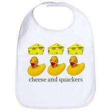 Cheese and Quackers Bib