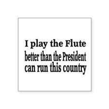 """Flute Square Sticker 3"""" x 3"""""""