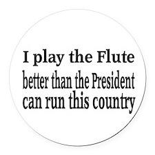 Flute Round Car Magnet
