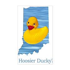 Hoosier Ducky? Rectangle Decal