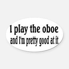 Oboe Oval Car Magnet