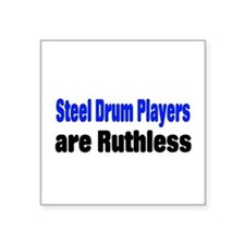 "Steel Drum Square Sticker 3"" x 3"""