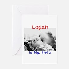 Logan is My Hero Greeting Cards (Pk of 10)