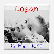 Logan is My Hero Tile Coaster