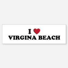 I Love Virgina Beach Virgina Sticker (Bumper)