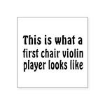 Violin Square Sticker 3