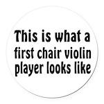 Violin Round Car Magnet