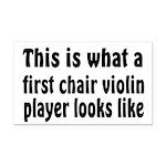 Violin Rectangle Car Magnet