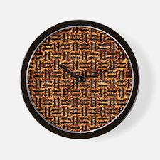 WOV1 BK-MRBL CP-FOIL (R) Wall Clock