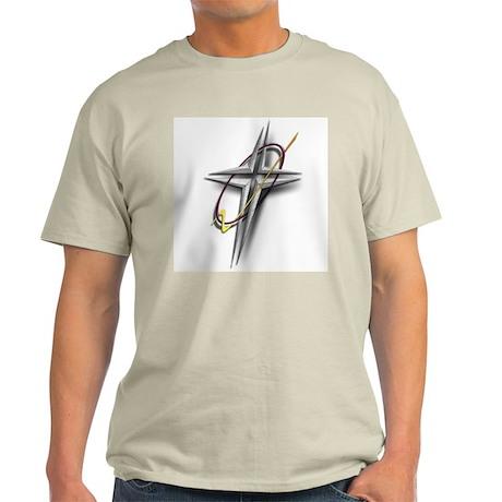 THE CROSS EMBLEM/FAITH WEAR GEAR Ash Grey T-Shirt