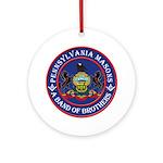 Pennsylvania Brothers Ornament (Round)