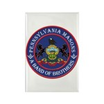Pennsylvania Brothers Rectangle Magnet (10 pack)