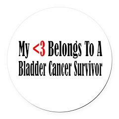 bladder4.png Round Car Magnet