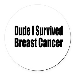 breast14.png Round Car Magnet