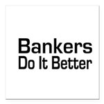 banker32.png Square Car Magnet 3