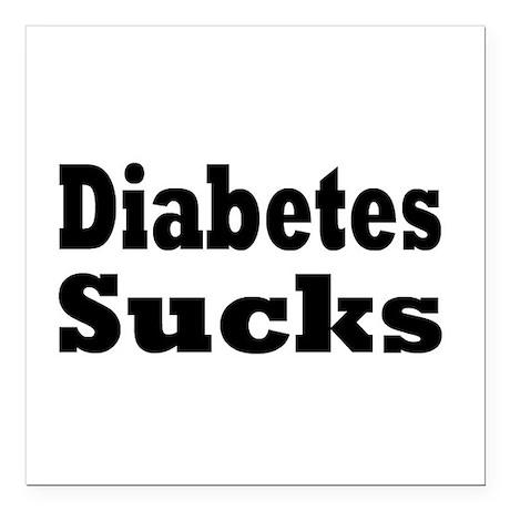 """Diabetes Square Car Magnet 3"""" x 3"""""""