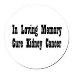 kidney11.png Round Car Magnet