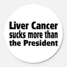 Liver Cancer Round Car Magnet