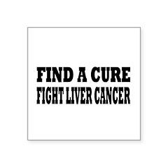Liver Cancer Square Sticker 3