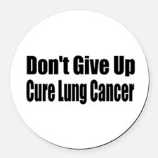lung6.png Round Car Magnet