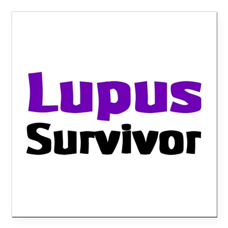 "Lupus Square Car Magnet 3"" x 3"""