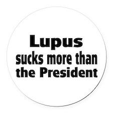 Lupus Round Car Magnet