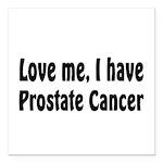 Prostate Cancer Square Car Magnet 3