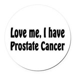 Prostate Cancer Round Car Magnet