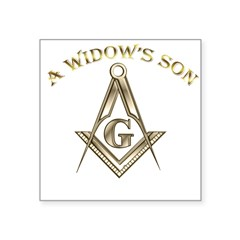 A Widows Son Square Sticker 3