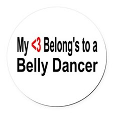 belly10.png Round Car Magnet