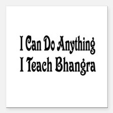 "bhangra32.png Square Car Magnet 3"" x 3"""