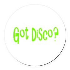 disco45.png Round Car Magnet