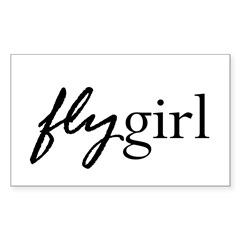 Fly Girl Rectangle Decal
