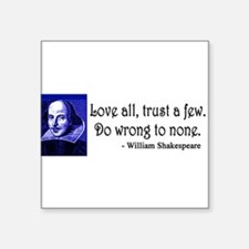 Shakespeare Quote Sticker