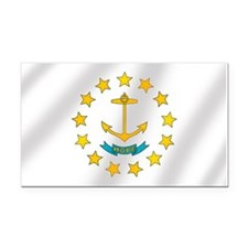 Flag of Rhode Island Rectangle Car Magnet