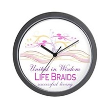 Life Braids Wall Clock