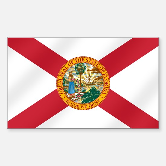 State Flag of Florida Sticker (Rectangle)