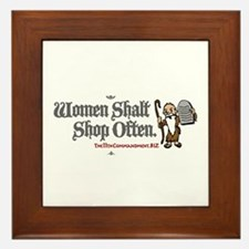 Women Shalt Shop Often Framed Tile