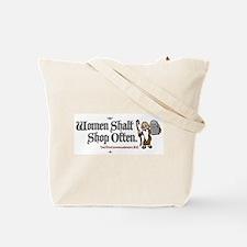 Women Shalt Shop Often Tote Bag