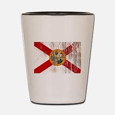 Florida Grunge Flag Shot Glass