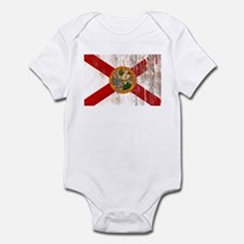 Florida Grunge Flag Infant Bodysuit
