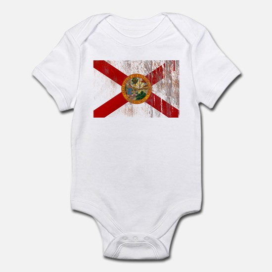 Florida Grunge Flag Infant Bodysuit