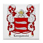 Luzyanski Coat of Arms Tile Coaster