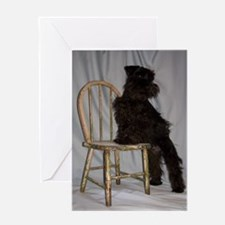 Black Miniature Schnauzer Puppy Greeting Card