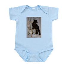 Black Miniature Schnauzer Puppy Infant Bodysuit