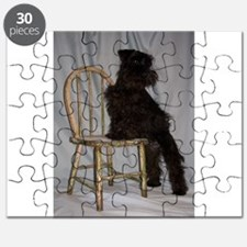 Black Miniature Schnauzer Puppy Puzzle
