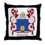 Luzinski Coat of Arms Throw Pillow