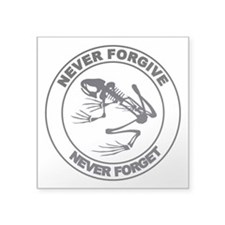 "Desert Frog - Never Forgive Square Sticker 3"" x 3"""